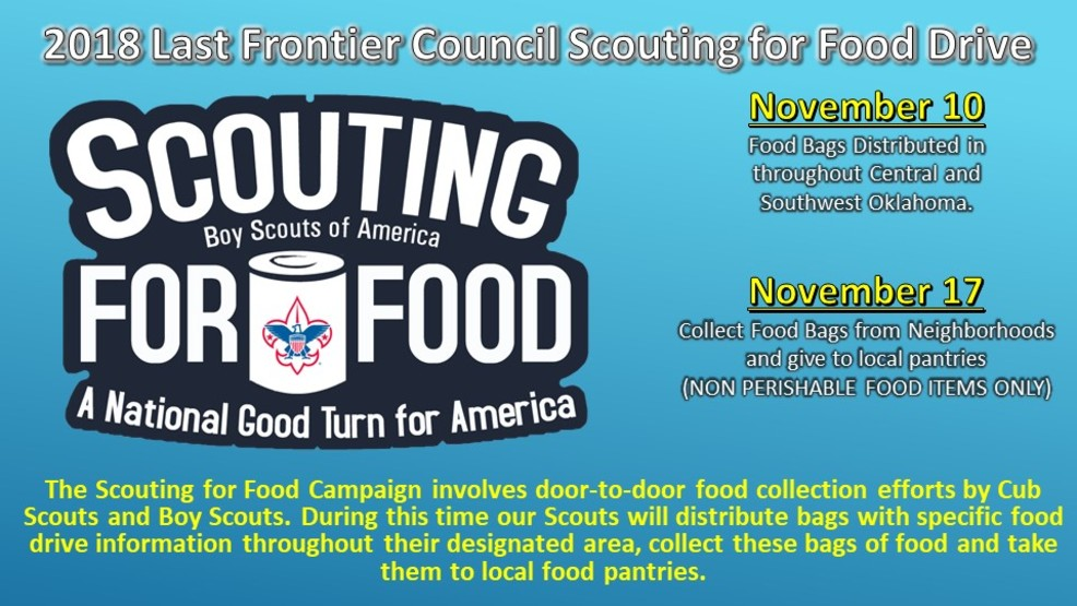 The Last Frontier Council of BSA's 'Scouting for Food' Food