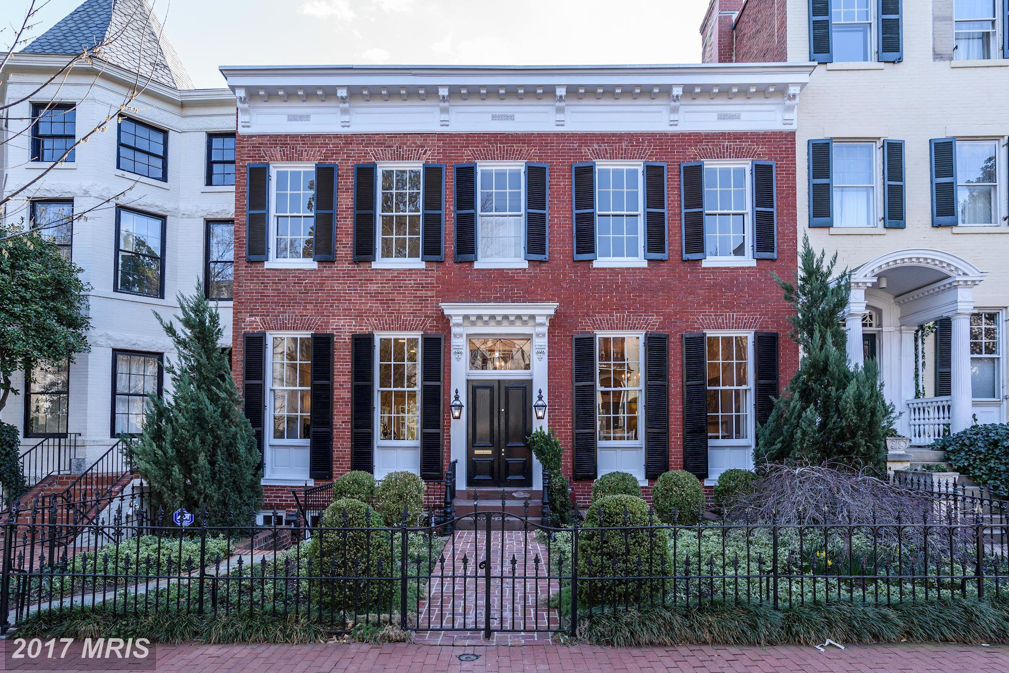 List price: $7,250,000 // Closing price: $6,750,000{&amp;nbsp;} // 6 bedrooms, 7 bathrooms // Built in 1900 // Federal style // Neighborhood: Georgetown // Listing agent:Nancy Taylor Bubes of Washington Fine Properties // Selling agent: Gregory Gaddy of TTR Sotheby's (Image: Courtesy Bright MLS)<br>