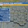 Dense fog and icy conditions impact Tuesday morning commute