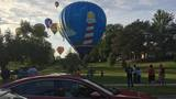 Hot air balloons land safely in Frankenmuth neighborhoods
