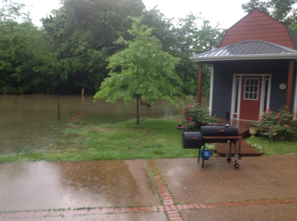 Flooding in Portland, Tennessee at approximately 10am--PHOTO: Christina Hammock