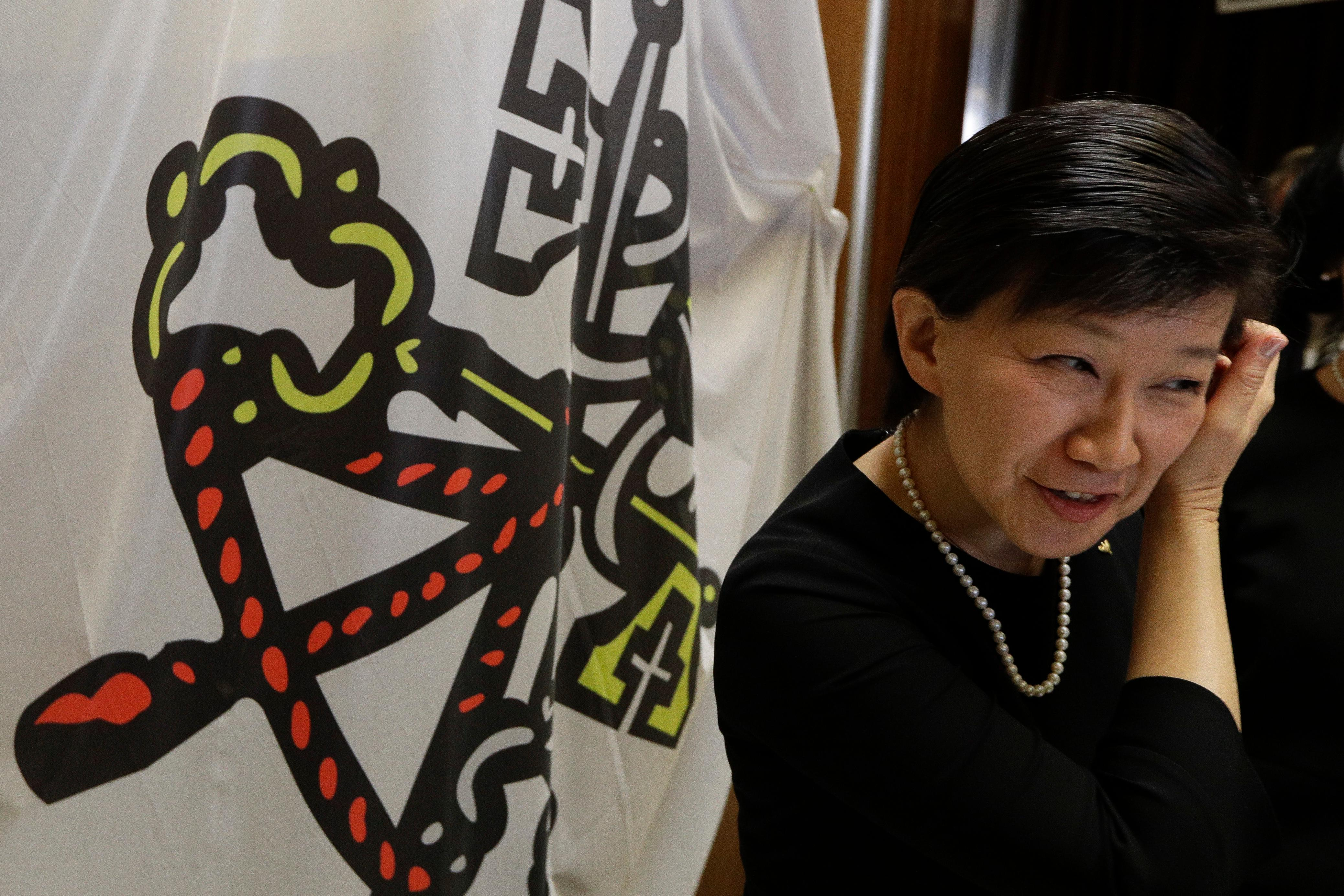 U.N. high representative for disarmament affairs Izumi Nakamitsu arrives for interviews during a break of a conference on nuclear disarmament, at the Vatican, Friday, Nov. 10, 2017. The Vatican hosted Nobel laureates, U.N. and NATO officials and a handful of nuclear powers at a conference aimed at galvanizing support for a global shift from the Cold War era policy of nuclear deterrence to one of total nuclear disarmament.(AP Photo/Andrew Medichini)
