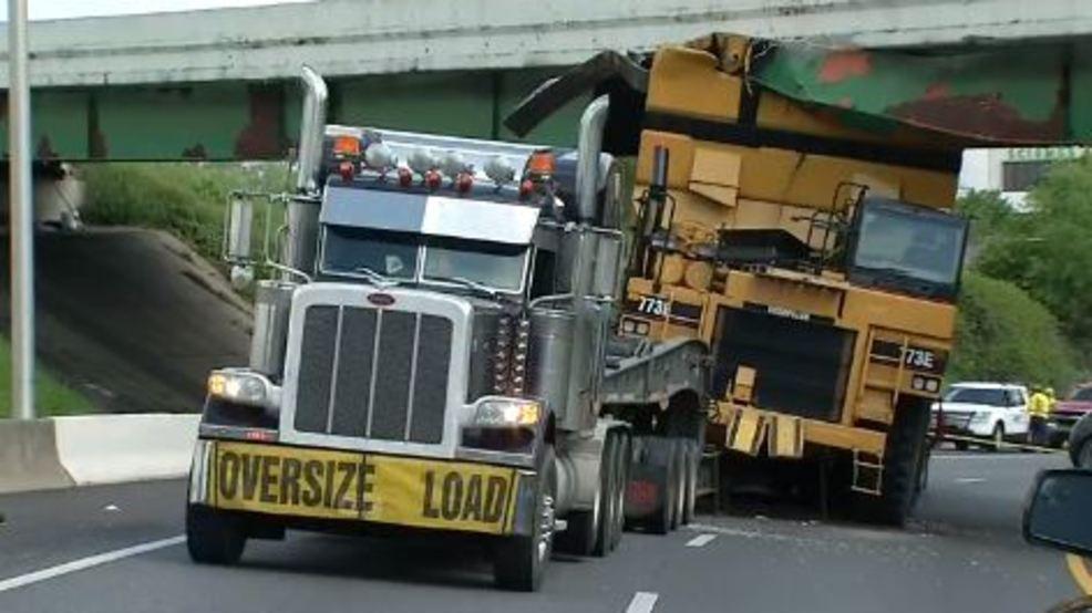 I-40 overpass reopens after semi its bridge, I-40/I-65 ramp still