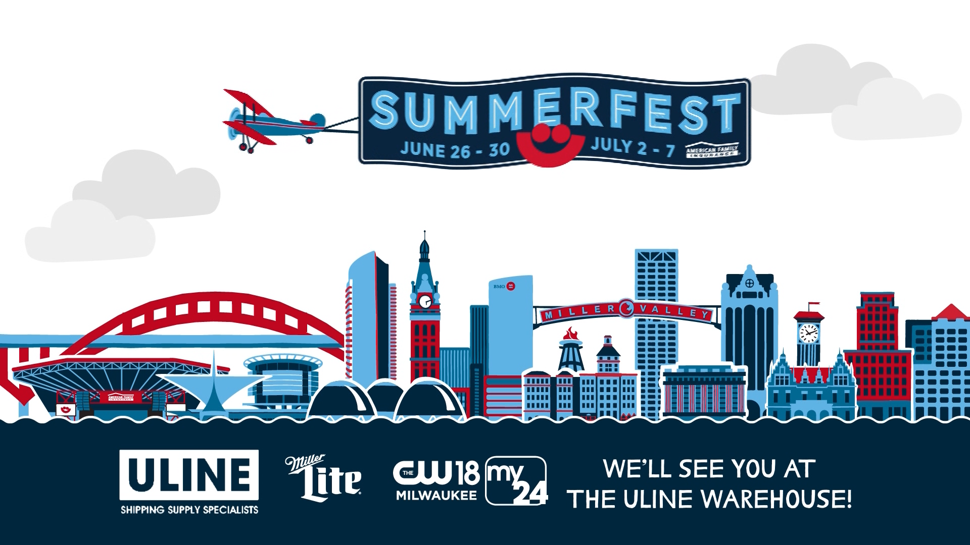 Join us at the Uline Warehouse with Miller Lite, CW18 & My24<p></p>