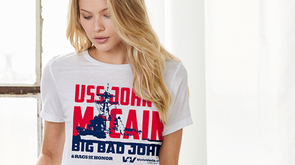 Veterans will hand out USS John McCain shirts during Trump's July 4th celebration