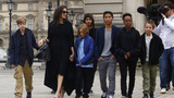 Angelina Jolie takes her kids out to explore Paris