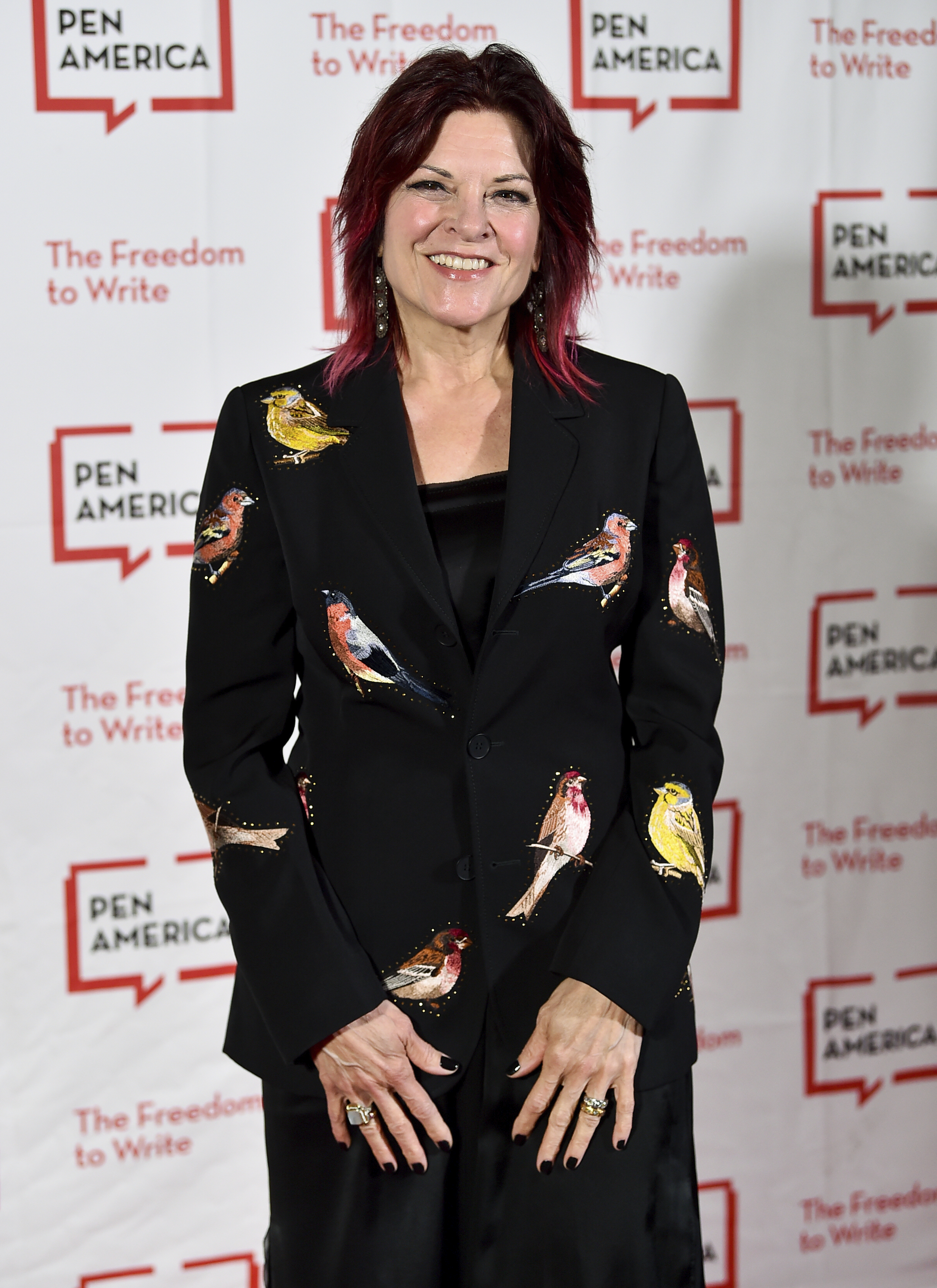 Singer-songwriter Rosanne Cash attends the 2018 PEN Literary Gala at the American Museum of Natural History on Tuesday, May 22, 2018, in New York. (Photo by Evan Agostini/Invision/AP)