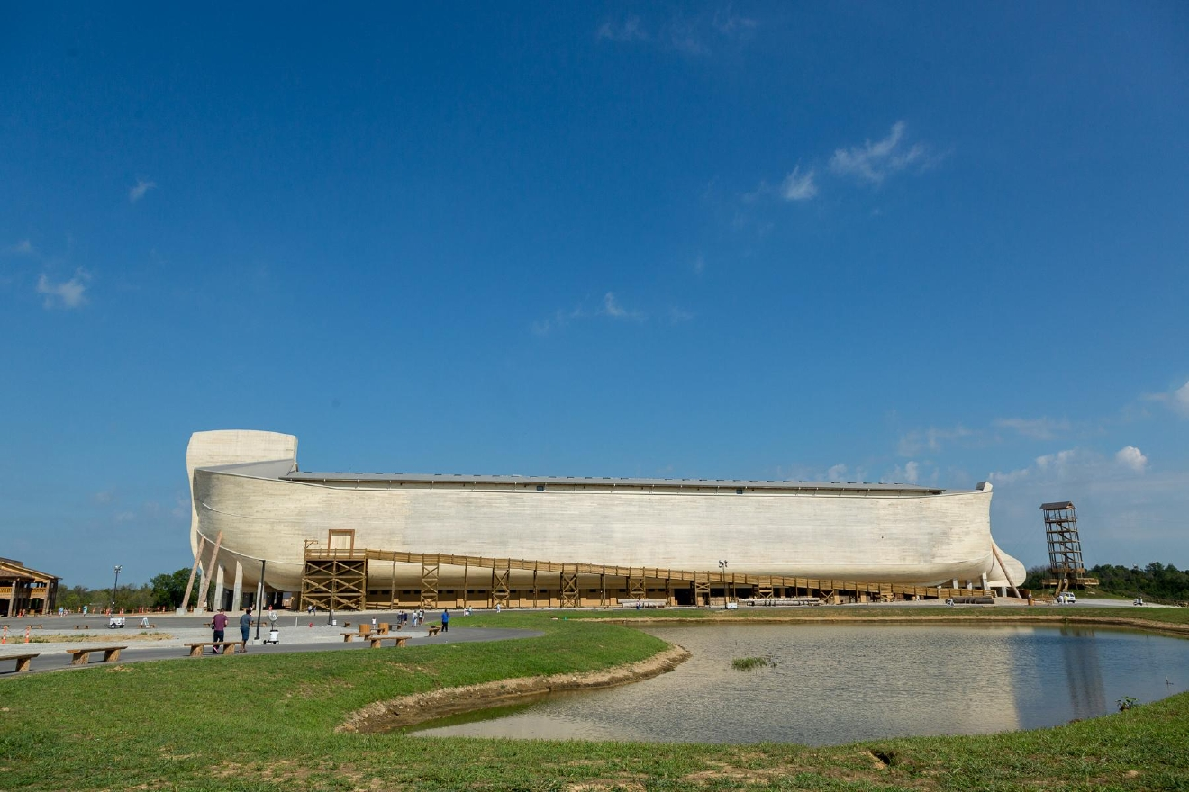 The Ark Encounter is a one-of-a-kind themed attraction located in Williamstown, Ky., and it opened in July 2016. Standing at 510-feet long, the boat (which is supposed to be a life-size replica of Noah's Ark) is marketed as one of the largest free-standing timber frame structures in the United States. ADDRESS: 1 Ark Encounter Drive, Williamstown, KY 41097 / IMAGE: Daniel Smyth