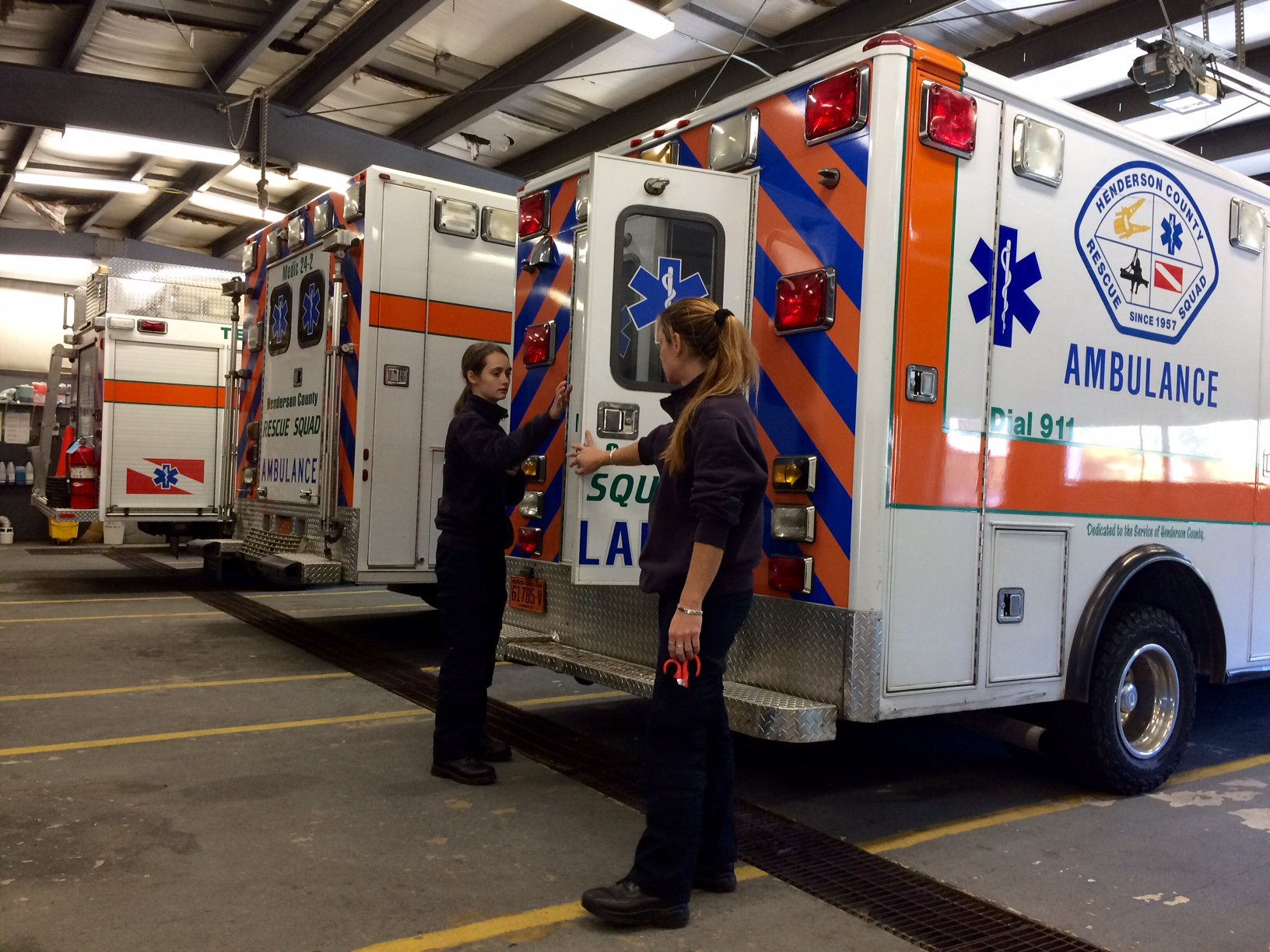 Being a part of the team takes a lot of training - almost 200 hours to become an emergency medical technician. But even volunteers can jump in through training on Monday nights. (Photo Credit: WLOS Staff).