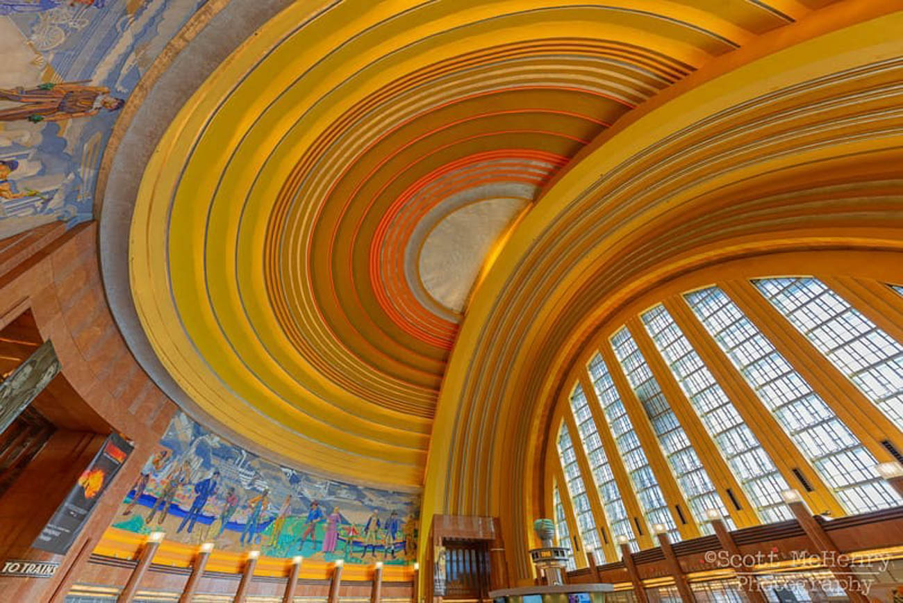 The rotunda at the Cincinnati Museum Center has always been stunning, but their post-renovation gave it a vibrant boost. / Image courtesy of Instagram user @scottmchenryphotography // Published: 3.20.19