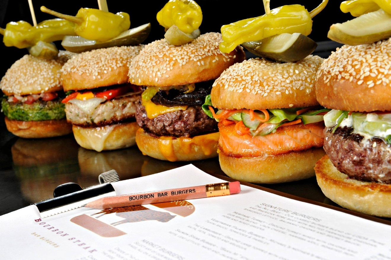 "Enjoy ""Business Over Burgers"" at Bourbon Steak's bar. You'll get a burger, side and non-alcoholic drink for $22. (Image: courtesy Bourbon Steak)"