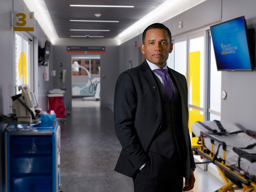 "ABC's ""The Good Doctor"" stars Hill Harper as Dr. Marcus Andrews. (ABC/Bob D'Amico)"